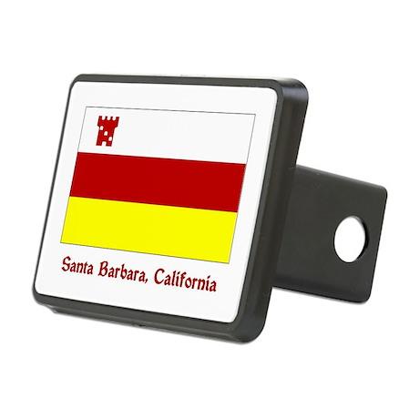 Santa Barbara CA Flag Rectangular Hitch Cover