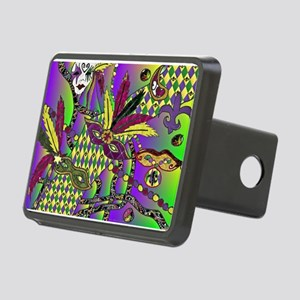 Mardi Gras Rectangular Hitch Coverle)