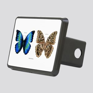 Tropical Morpho Butterfly Rectangular Hitch Cover