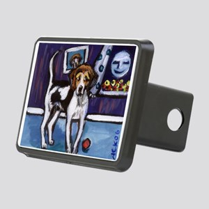 AMERICAN FOXHOUND smiling moo Rectangular Hitch Co