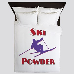 Ski Powder Queen Duvet