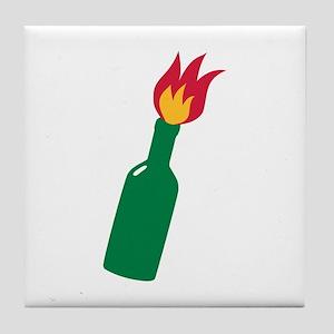 Molotov cocktail Tile Coaster