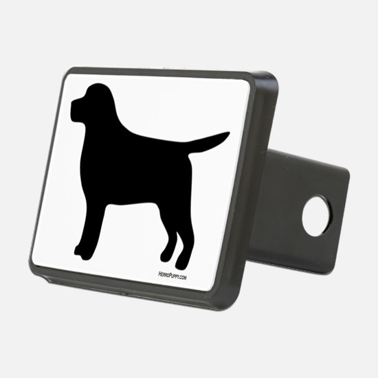 Black Lab Silhouette Rectangular Hitch Coverle)