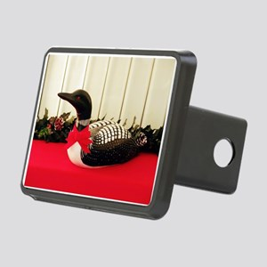 Holiday Loon Rectangular Hitch Cover