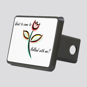 Tulips Rectangular Hitch Cover