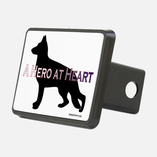 Hero at Heart Rectangular Hitch Coverle)