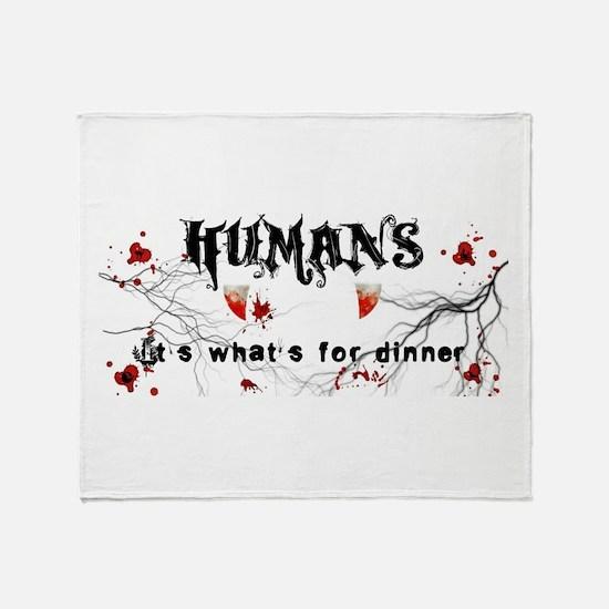 human logo.jpg Throw Blanket