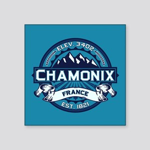 "Chamonix Ice Square Sticker 3"" x 3"""