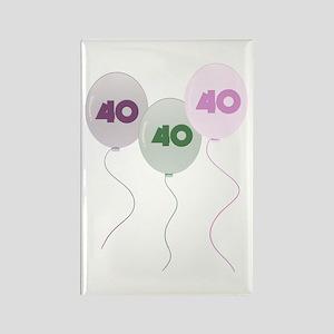 40th Birthday Balloons Rectangle Magnet