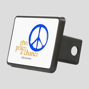 Give Peace a Chance - Blue & Orange Rectangular Hi