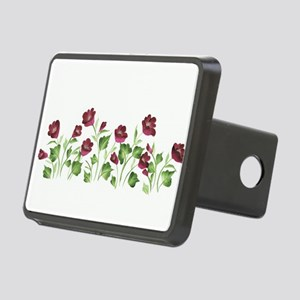 Purple Poppies Rectangular Hitch Cover