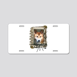 Fathers Day Stone Paws Dingo Aluminum License Plat