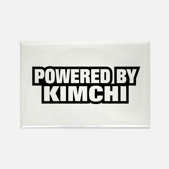 POWERED BY KIMCHI Rectangle Magnet
