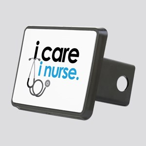 i care i nurse blue Rectangular Hitch Cover