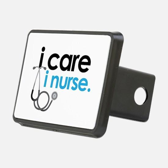 i care i nurse blue Hitch Cover
