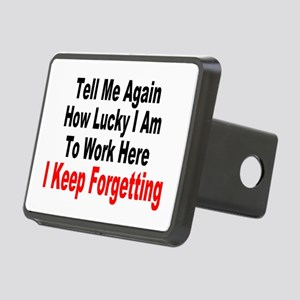 I LOVE MY JOB Rectangular Hitch Cover