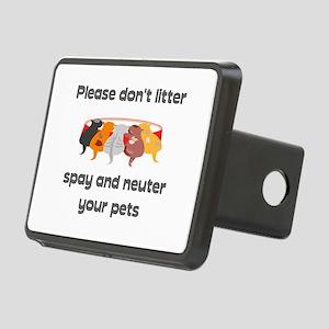 Don't Litter Rectangular Hitch Cover
