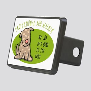 Funny Dog Walker Rectangular Hitch Coverle)
