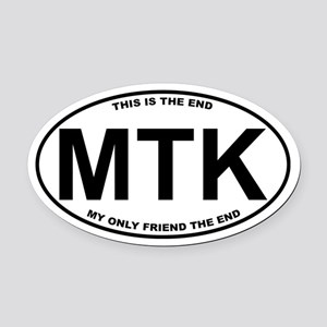 Montauk The End Doors Oval Car Magnet