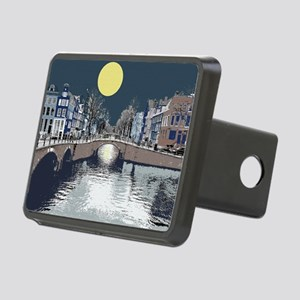 Amsterdam at Night Rectangular Hitch Coverle)