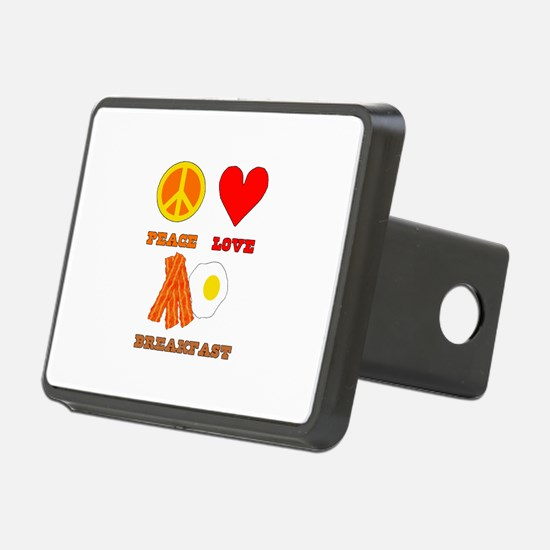Peace Love Breakfast Rectangular Hitch Coverle)