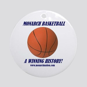 Monarch Basketball Ornament (Round)