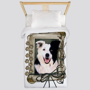 Fathers Day Stone Paws Border Collie Twin Duvet