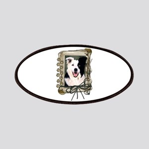 Fathers Day Stone Paws Border Collie Patches