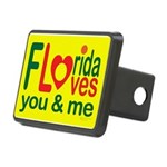 Florida Loves You Rectangular Hitch Coverle)