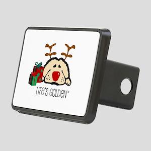 Life's Golden Rudolph Rectangular Hitch Cover