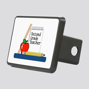 Second Grade Teacher (Notebook) Rectangular Hitch