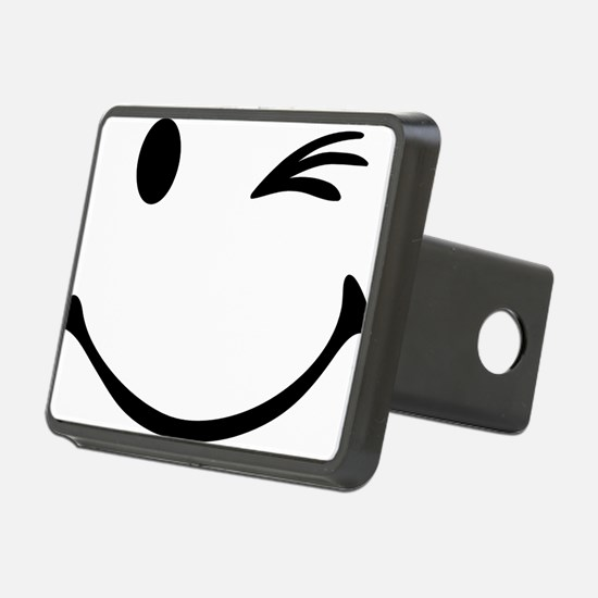 Smiley wink Rectangular Hitch Coverle)