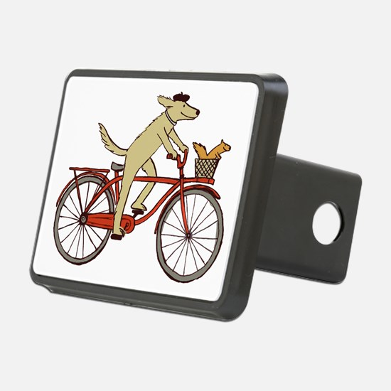 Dog & Squirrel Rectangular Hitch Coverle)