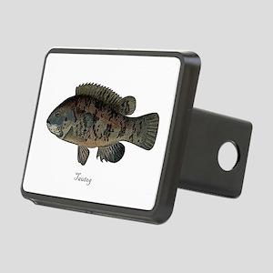 Tautog Black Fish Rectangular Hitch Coverle)