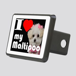 NEW I LOVE My Maltipoo Rectangular Hitch Cover