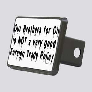 No Brothers for Oil Rectangular Hitch Cover