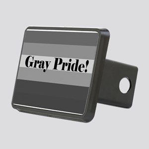 """Gray Pride"" Rectangular Hitch Cover"