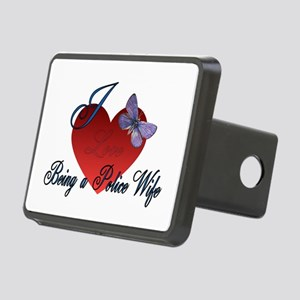 Love Being A Police Wife Rectangular Hitch Cover