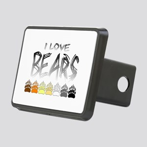 I Love Bears Rectangular Hitch Cover