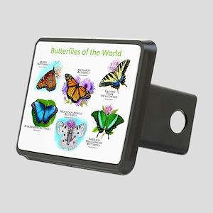 Butterflies of the World Rectangular Hitch Coverle
