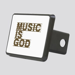 Music Is God Rectangular Hitch Cover