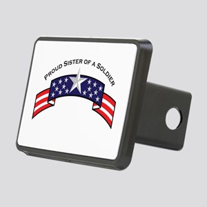 Proud Sister of a Soldier Sta Rectangular Hitch Co