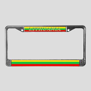 Lithuania Lithuanian Flag License Plate Frame