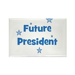 Future President - Blue Rectangle Magnet