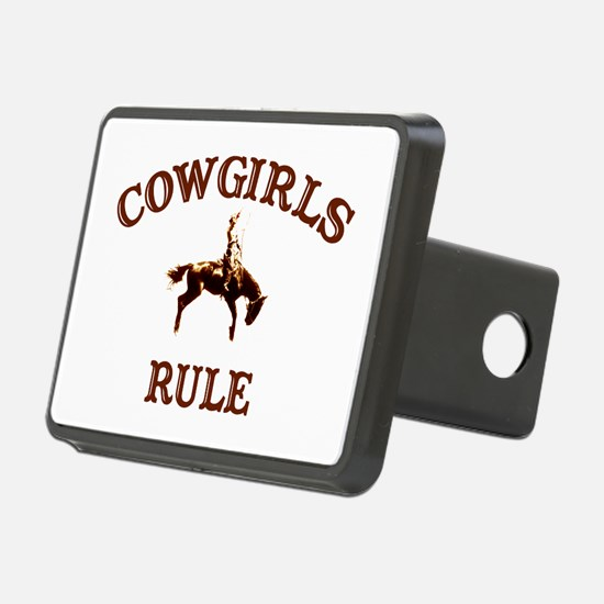 cowgirls rule Hitch Cover