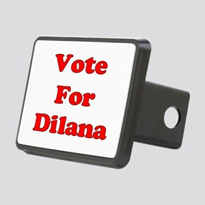 Vote for Dilana (Red) Rectangular Hitch Coverle)