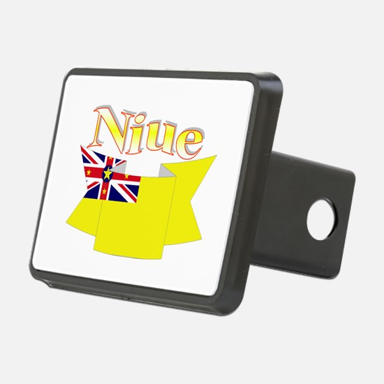 Niue ribbon flag Hitch Cover