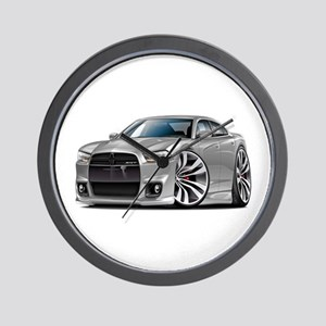 Charger SRT8 Silver Car Wall Clock