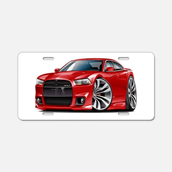 Charger SRT8 Red Car Aluminum License Plate