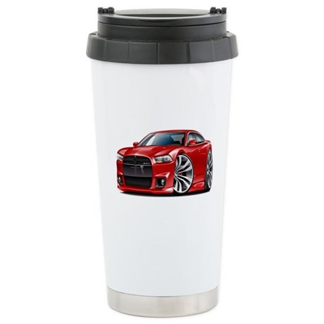 Charger SRT8 Red Car Stainless Steel Travel Mug